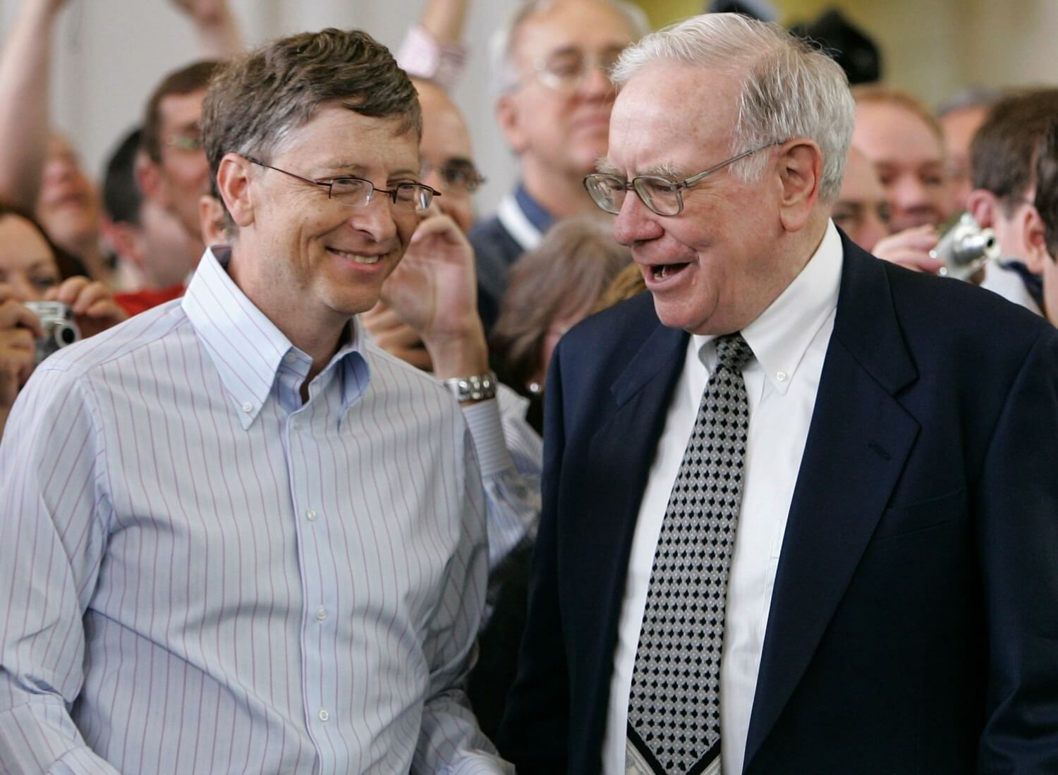 Photo de Bill Gates & son ami philosophe  Warren Buffet